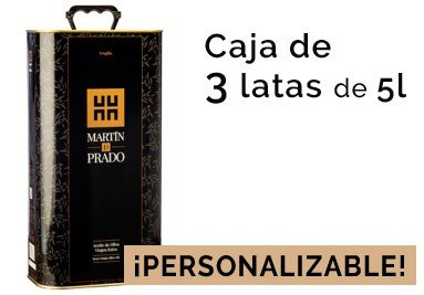 Caja de 3 latas de 5L del mejor Aceite de Oliva Virgen Extra (AOVE)
