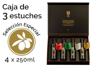Caja de 4 estuches de Selección Especial, que contiene 4 botellas de vidrio de 250ml de distintas variedades